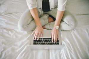 photo of woman on laptop emailing homeworx pro